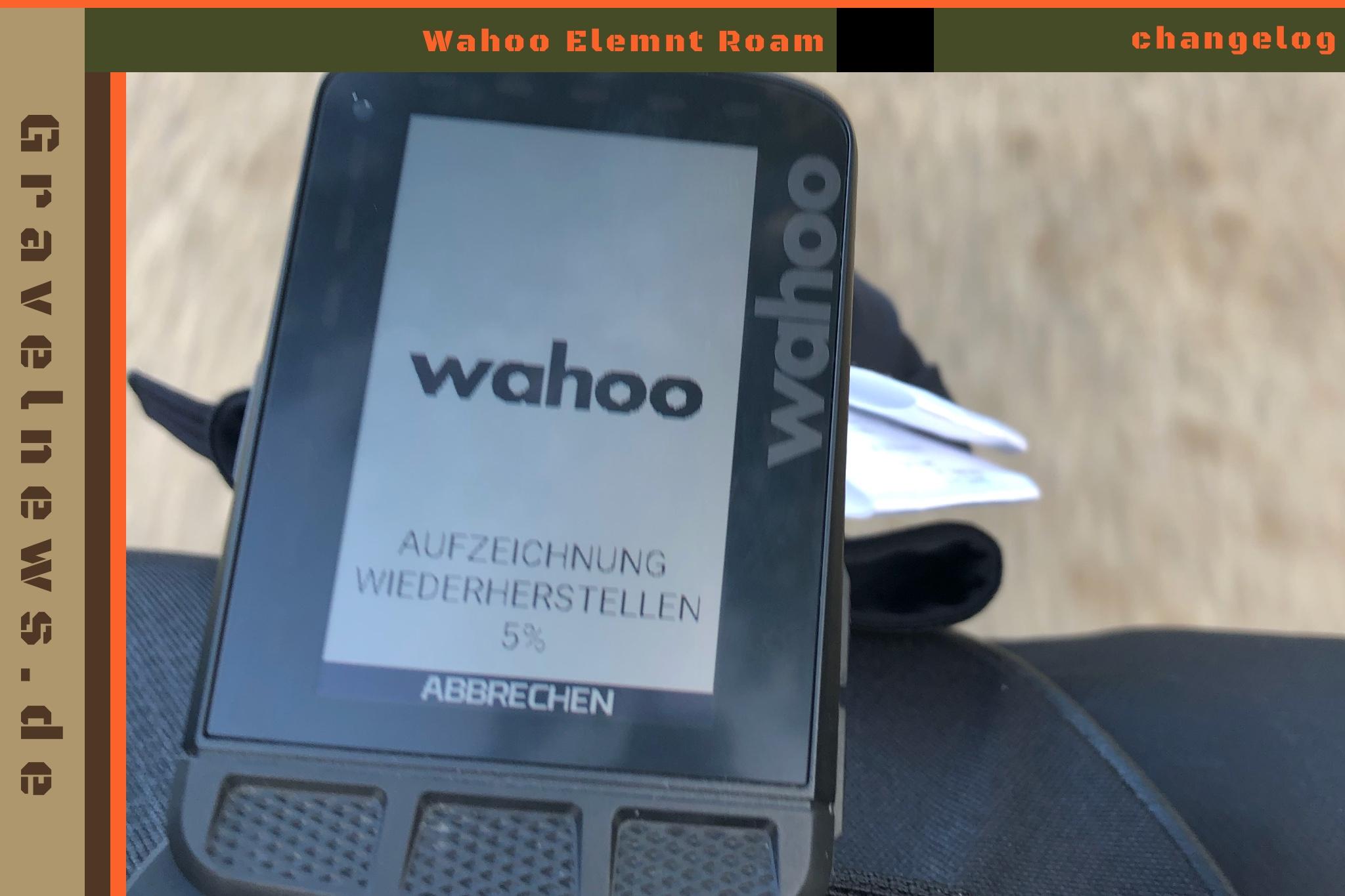 Wahoo Elemnt Roam