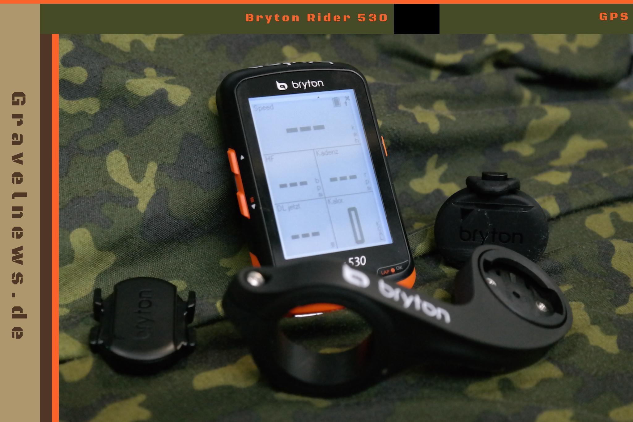 GPS Gerät, Halterung und Sensoren
